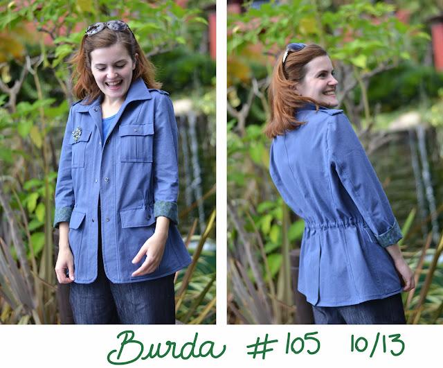 burda 105 10/13, burda, jacket, military jacket, camo jacket