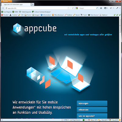 Screen shot of http://appcube.info/.