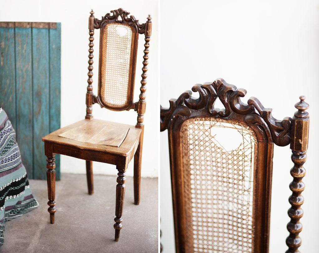 Vintage second hand möbler stol