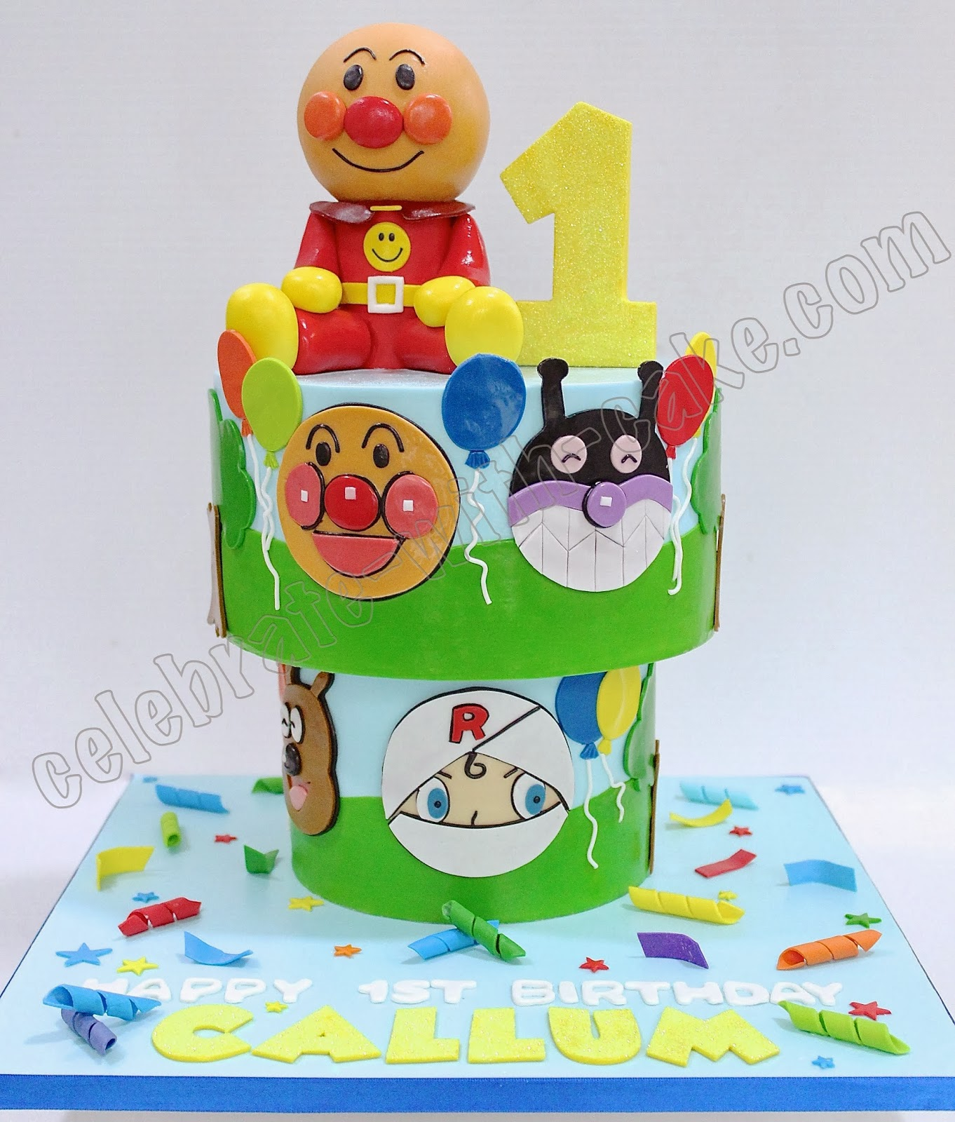 Celebrate With Cake Anpanman Upside Down