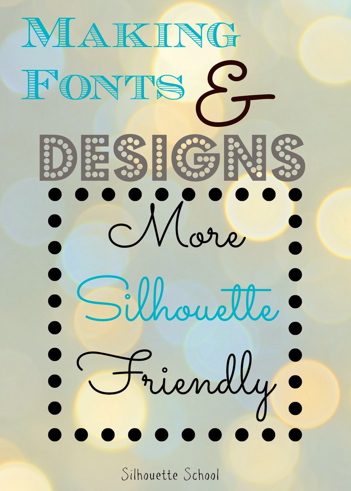 How to make fonts more silhouette friendly