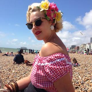 retro summer brighton beach