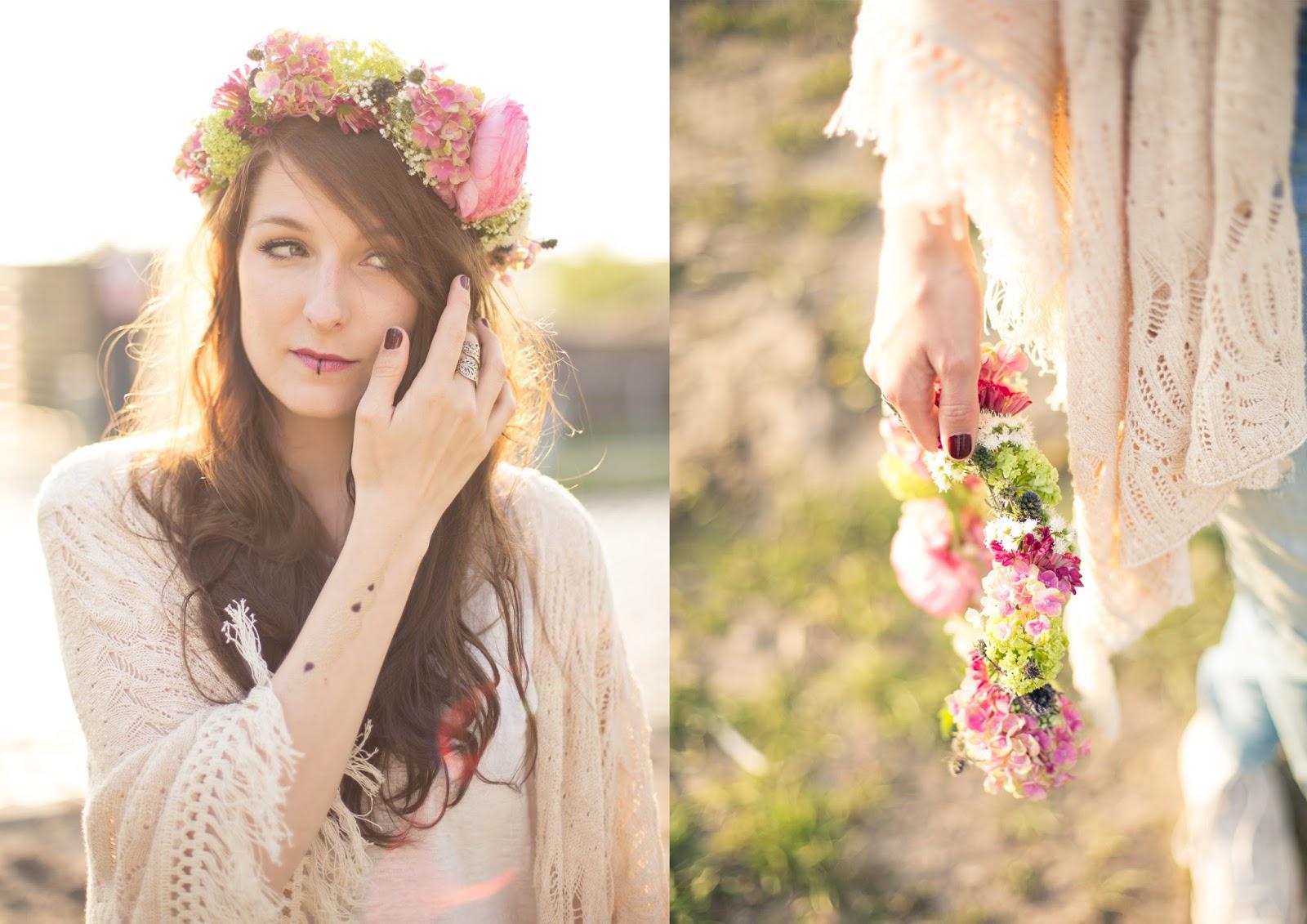 Blumenkranz Flower Crown DIY Festival Outfit