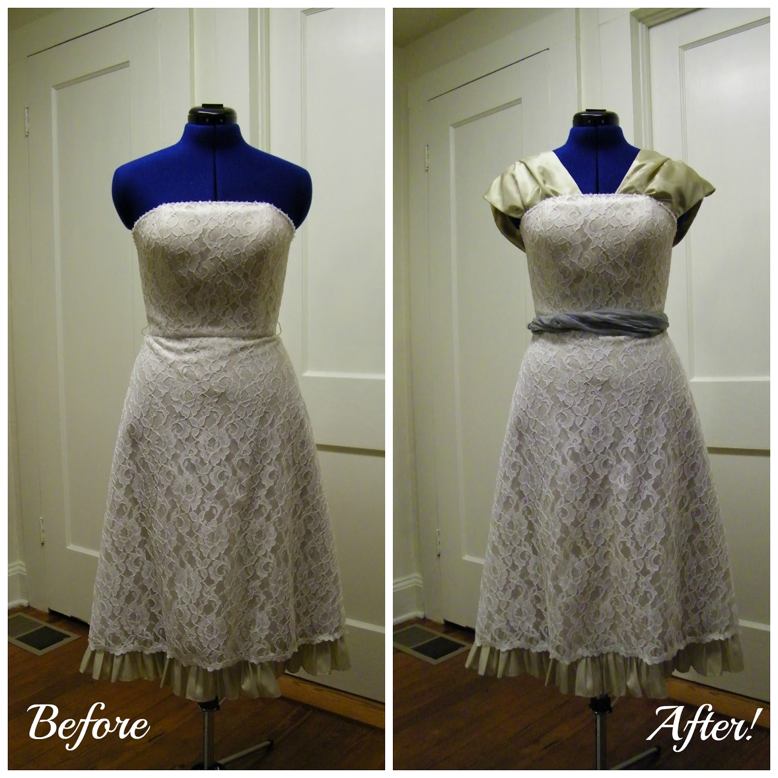 The Touch of Whimsy: Thrift Store Cocktail Dress Refashion!
