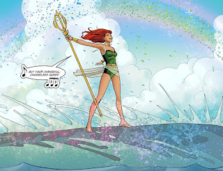 Page 7 of DC Comics Bombshells #16 featuring Mera aka Aquawoman