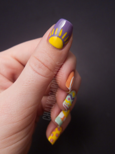 easter mix chalkboard nails