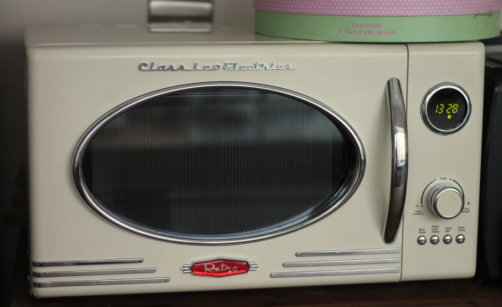 retro cream microwave