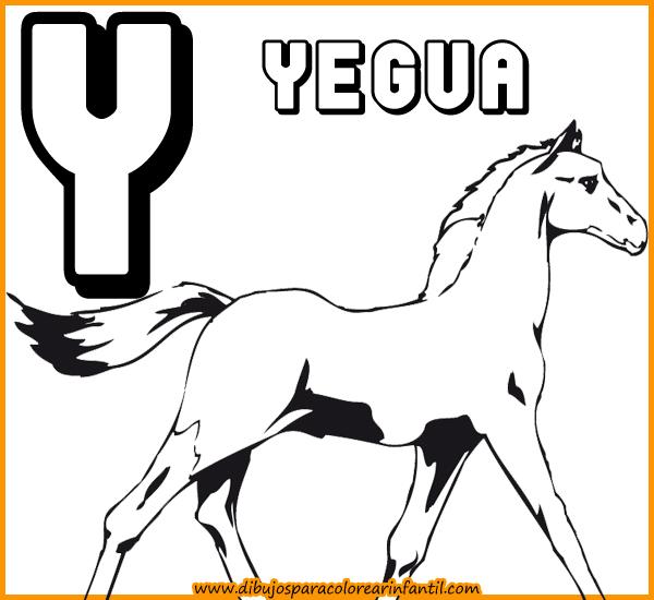 Para colorear - Abecedario de Animales para colorear: Letra W,X,Y,Z