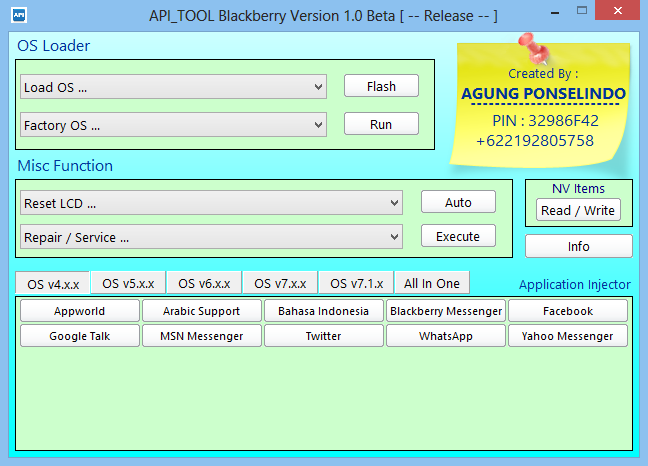 Blackberry OS7 Qualcom tool