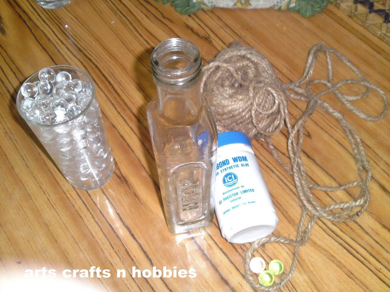Arts crafts n hobbies empty olive oil bottle decore tutorial for Glass bottle crafts to make