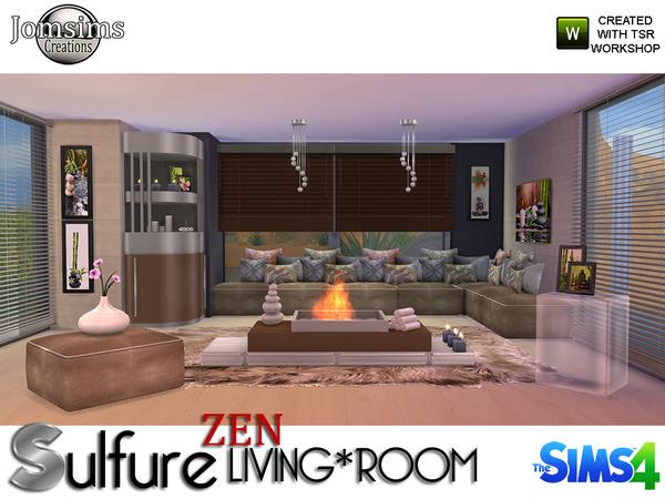 My sims 4 blog jomsims sulfure zen living room for Living room sims 4