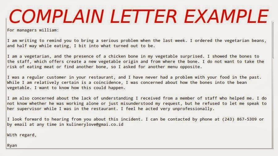 Laundry Service Complaint Letter. Student Complaint Letter