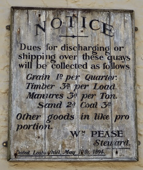 1894 sign for shipping charges in Cornwall
