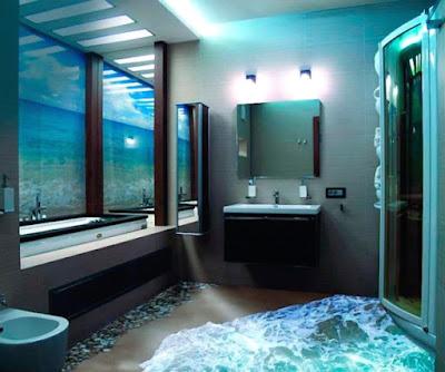 desain kamar mandi 3d keren