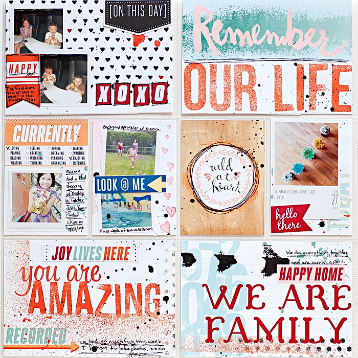 Heather Greenwood Designs | Week 30 - 2014 | pocket scrapbook | Just Jaimee August Storyteller Collection