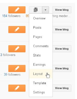 Blogger new UI layout options