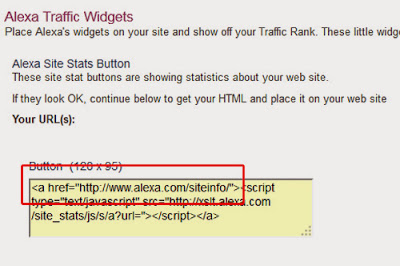 Ini adalah halaman kode HTMLnya.  Silahkan tambahkan dengan URL alamat Blog anda