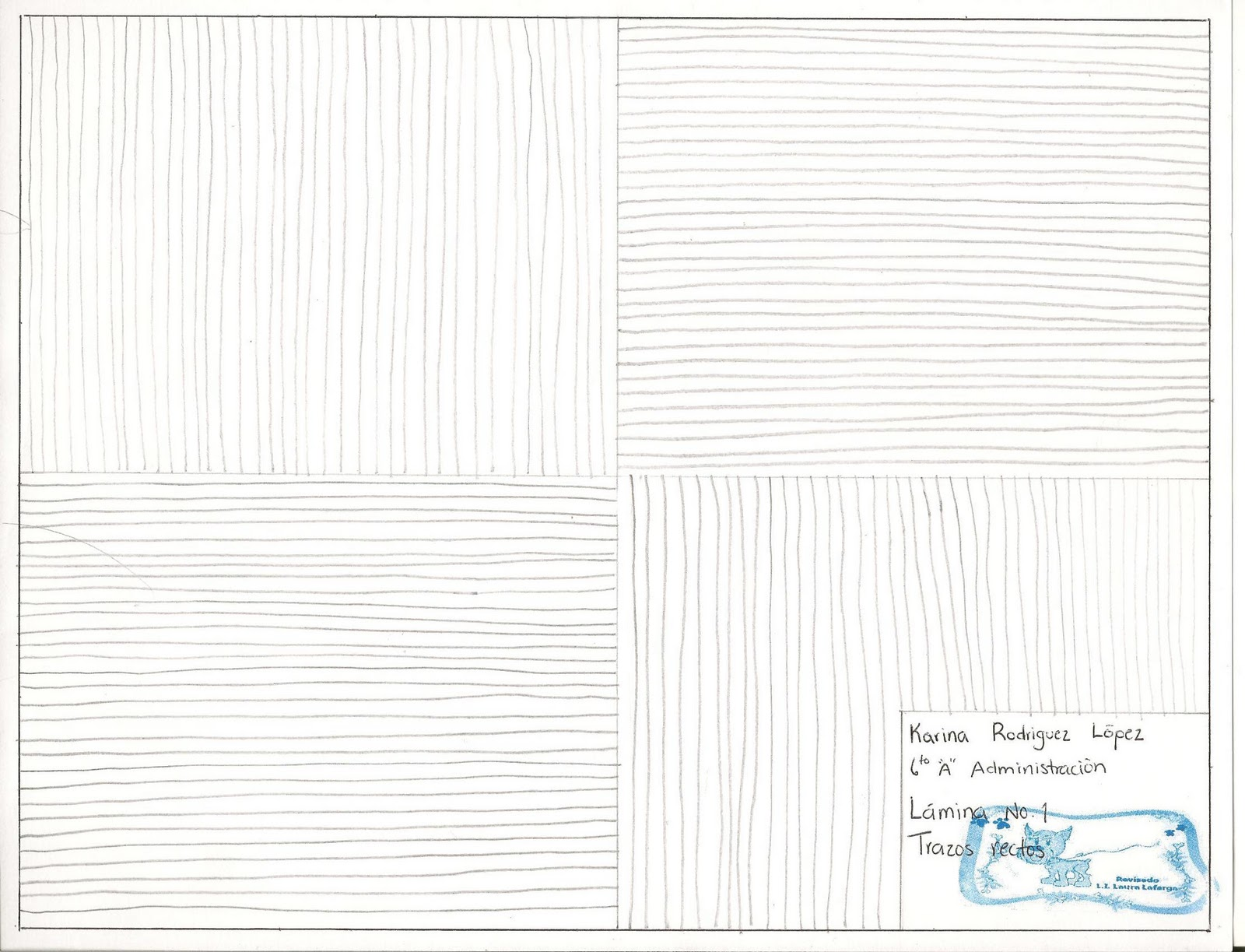 Clase de dibujo Tecnico KRL Lamina No 1 Trazos Rectos