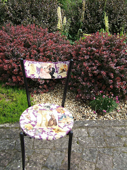 Decoupage upcycled chair