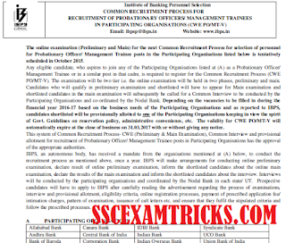 IBPS CWE V 2015 PO / MT RECRUITMENT NOTIFICATION
