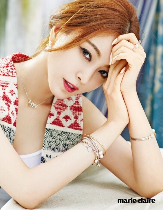 Rapper record producer songwriter Han Ye Seul Swarovski Pictorial marie claire Leslie Kim Occupation Actress Agent KeyEast Boyfriend Teddy enjoy korea