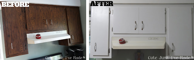 How to Paint Laminate Cabinets - Before & After