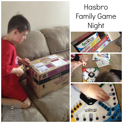 Hasbro, family game night, monopoly, scrabble, trouble, twister, board game