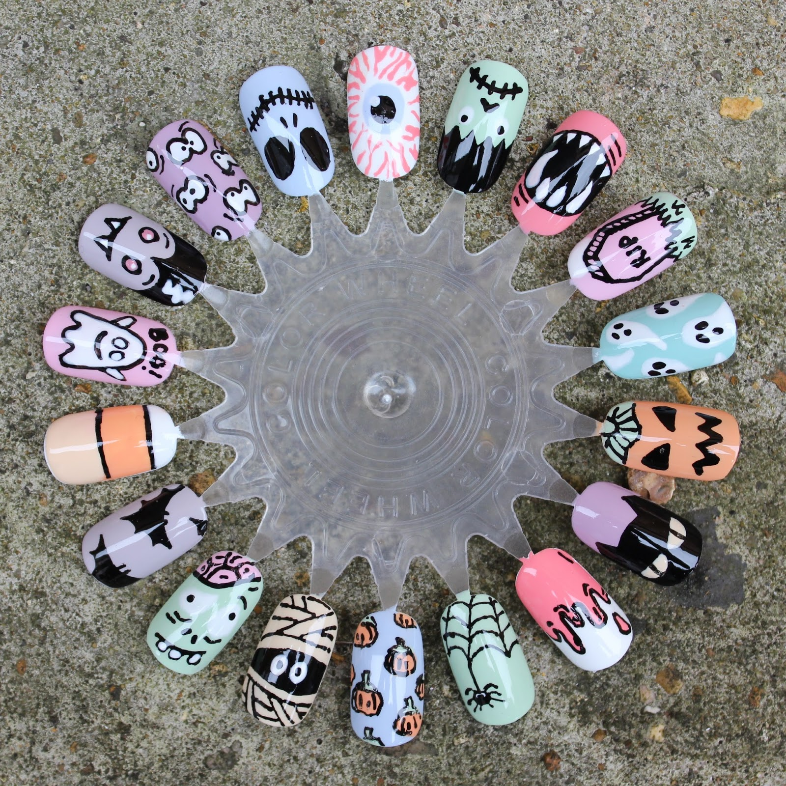 Dahlia Nails: 18 Fun Halloween Nail Art Ideas