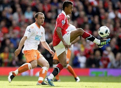 Nani Man Utd vs Blackpool Barclays Premier League