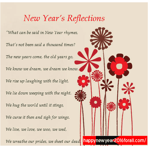 Best New Year Poems New Collection - Wishespoint