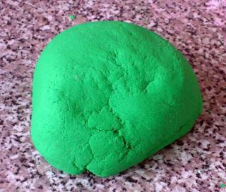ball of green salt dough