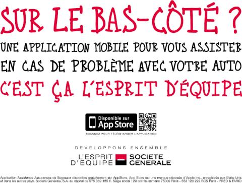 """Publicité """"Esprit d'Equpe"""" de Société Générale"""
