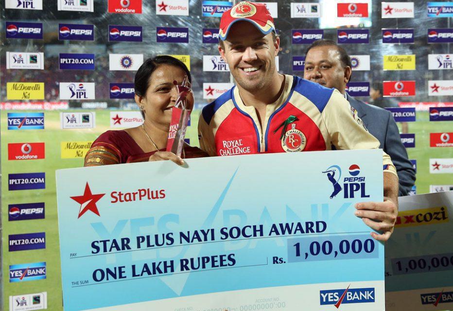 AB-De-Villiers-nayi-soch-award-PWI-vs-RCB-IPL-2013