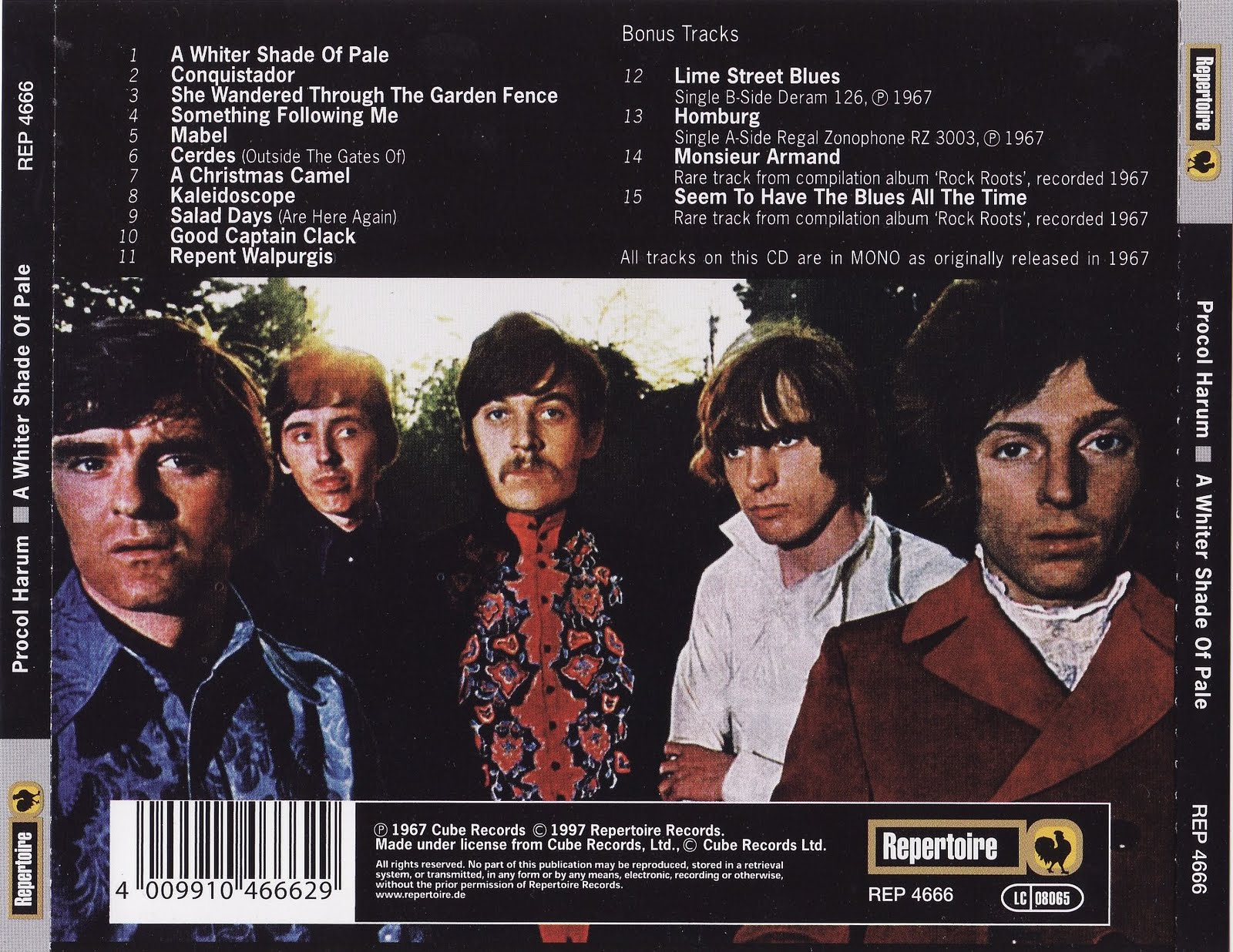 Procol Harum A Whiter Shade Of Pale Lime Street Blues
