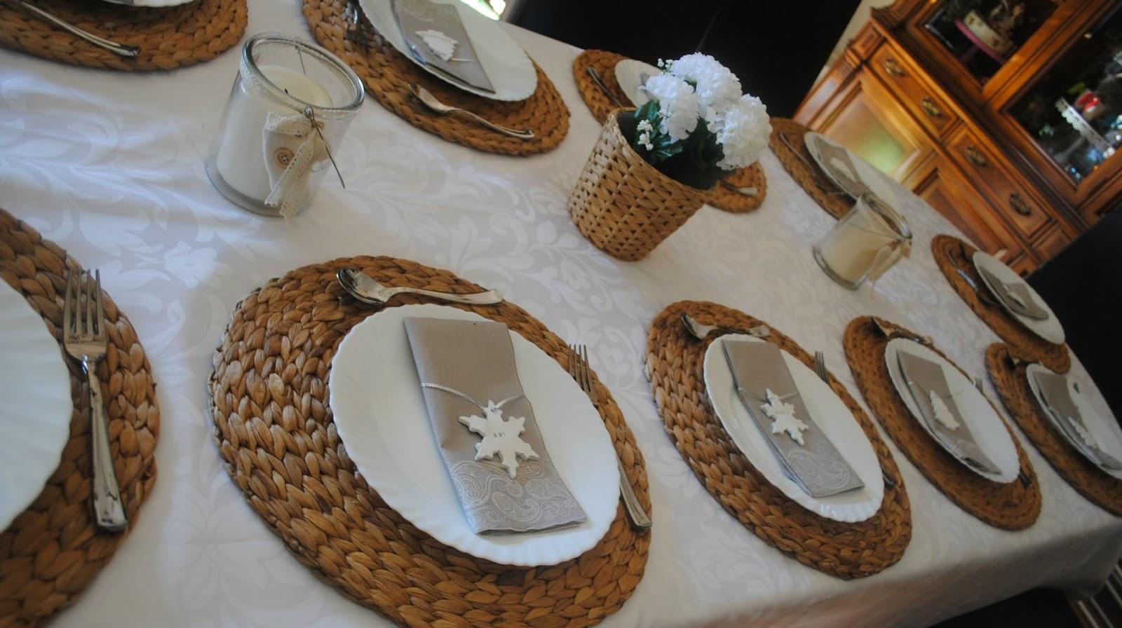 El taller de los dulces decoraci n mesa de nochebuena - Bajo plato ikea ...