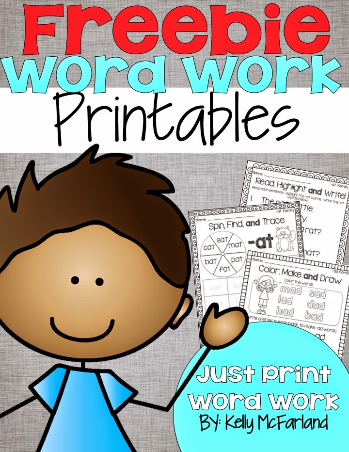 Lattes And Lunchrooms: Word Work Printables Freebie