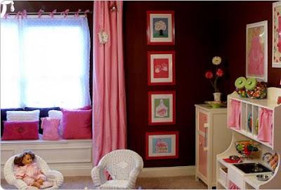 quarto criança rosa e marrom