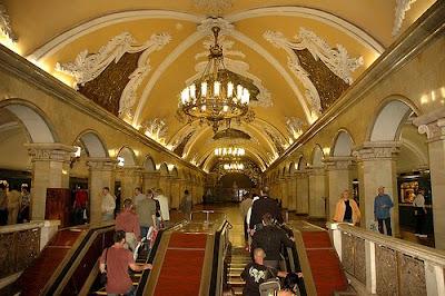 metro de Moscú, turismo