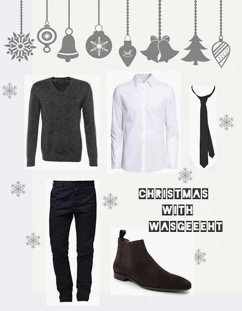 Weihnachten Herren Stil Outfit Look Christmas Männer