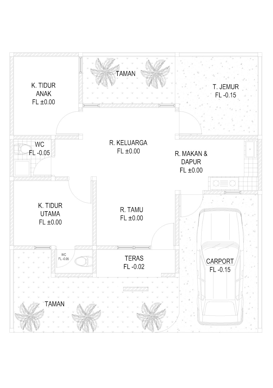 Ragam ide Desain Rumah 1 Lantai 3 Kamar Tidur 2015 yang elegan