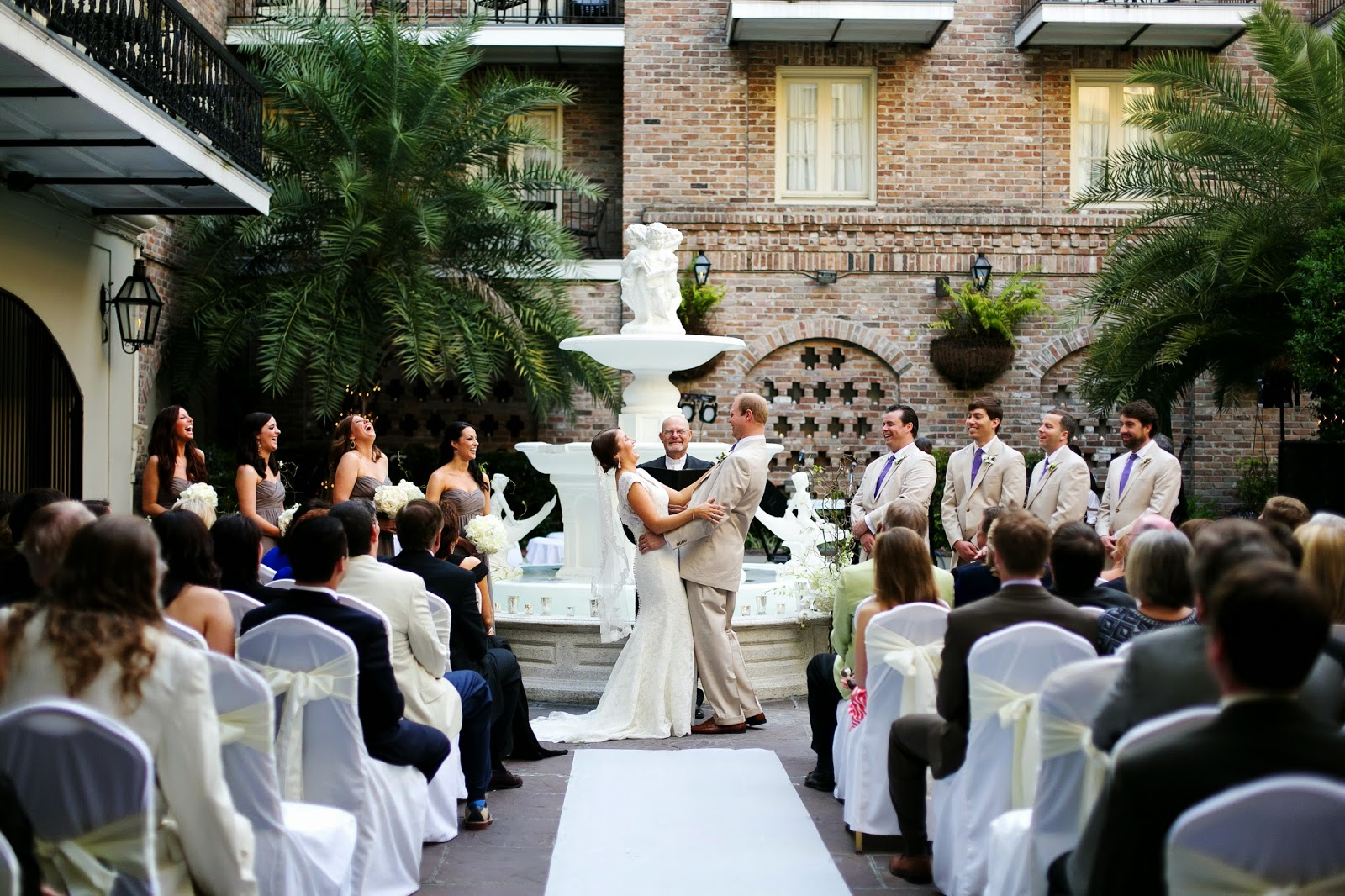 New orleans weddings chaplain schwehm at maison dupuy for Hotel maison