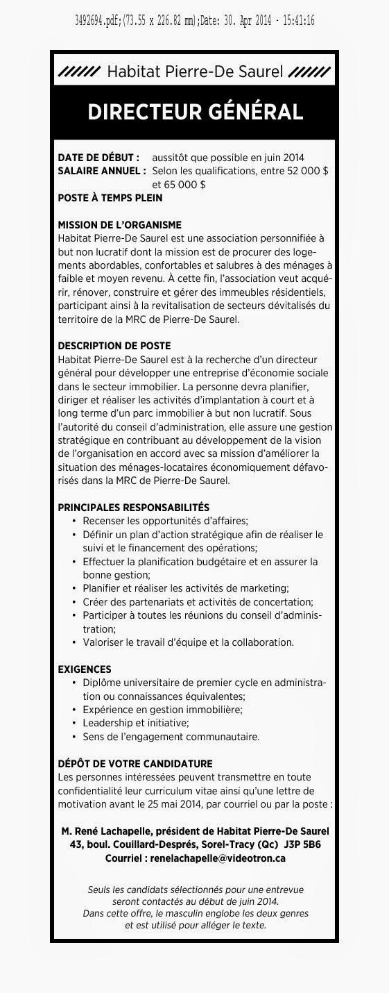 La cdc ici montmagny l 39 islet offre d 39 emploi directeur - Offre d emploi directeur office de tourisme ...