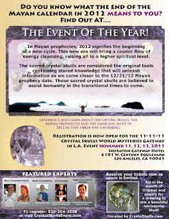 Flyer Evento Calaveras de Cristal