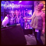 madmumof7 with owl from Harry Potter at BritmumsLive 2013