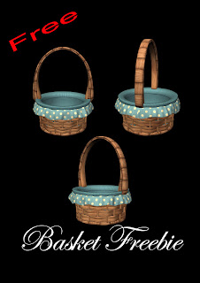 Basket freebie PNG, free PNG TUBES, Easter baskets