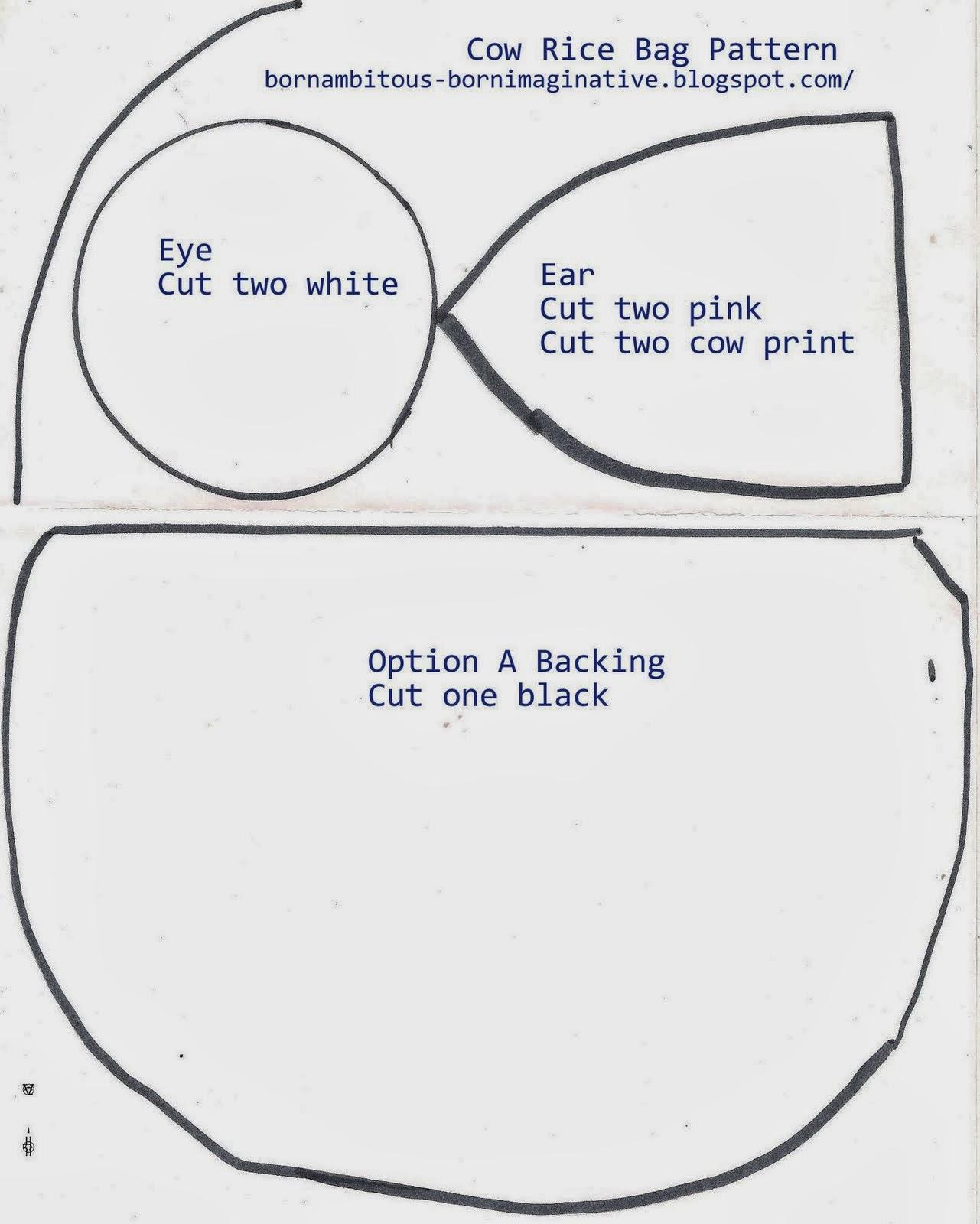 born imaginative.: Mama Made: Cow Rice Bag (Free Pattern)