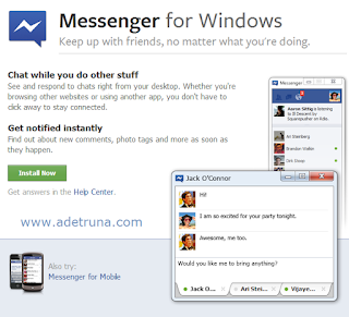 Install Facebook Messenger di Windows