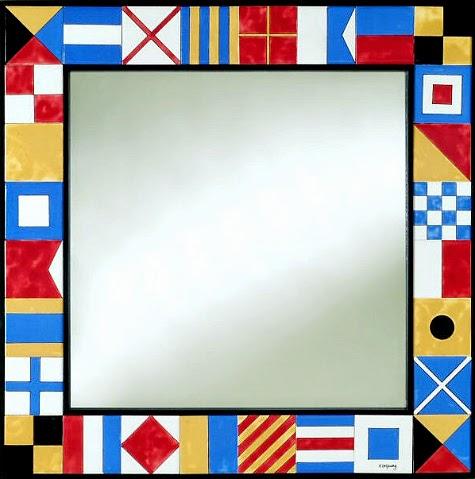 Nautical Flag Mirror