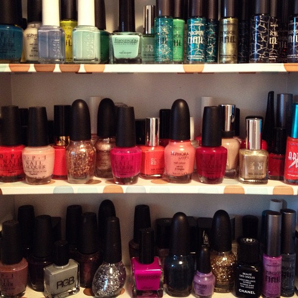 Nail Polish Storage: Chanel, OPI, Essie, Zoya, Butter, RGB | ...love ...
