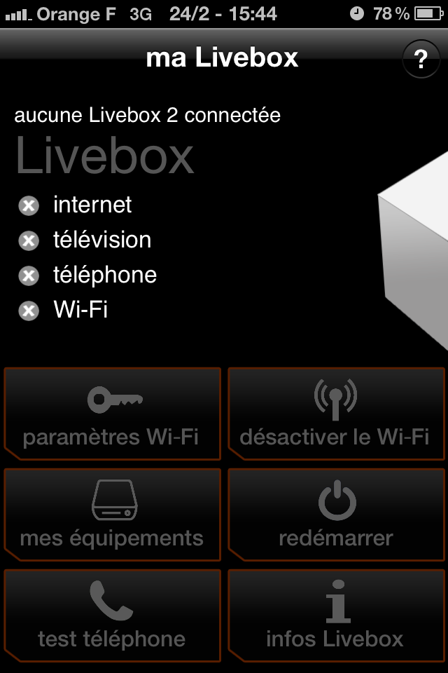 cryptiphone contr ler sa livebox avec son iphone c 39 est possible. Black Bedroom Furniture Sets. Home Design Ideas